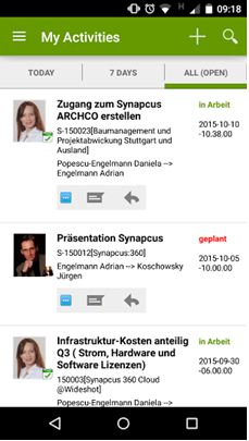 Synapcus App Activity Wall