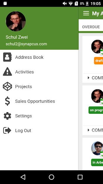 Synapcus-Software-Android-App-login